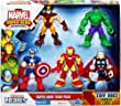 Marvel Playskool Super Hero Adventures Action Figure 5-Pack Super Hero Team Pack [Wolverine, Hulk, Captain America, Iron Man & Thor]