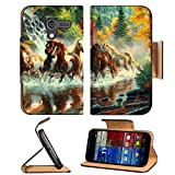 Multicolor Horses Digital Art Rivers Motorola Moto X Flip Case Stand Magnetic Cover Open Ports Customized Made to Order Support Ready Premium Deluxe Pu Leather 5 7 16 Inch (138mm) X 3 1 16 Inch (78mm) X 9 16 Inch (14mm) MSD Mobility cover Professional MotoX Cases Moto_X Accessories Graphic Background Covers Designed Model Folio Sleeve HD Template Designed Wallpaper Photo Jacket Wifi Protector Cellphone Wireless Cell phone