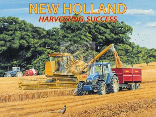 Trevor Mitchell - New Holland - Blechschilder Nostalgie 20x15