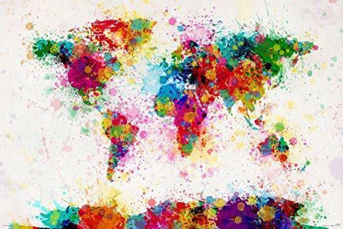Weltkarte als Poster   Abstrakte Weltkarte