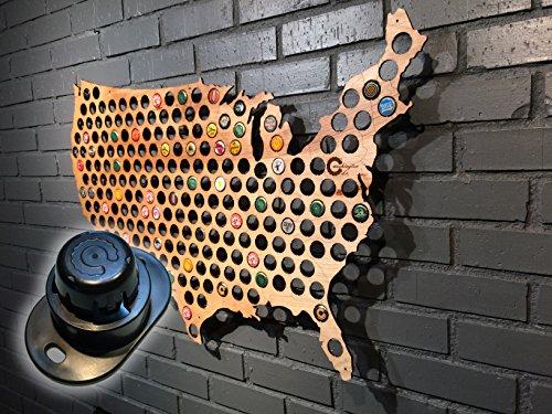 Beer Cap Map Wall Hanger