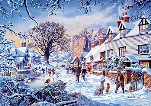 Wentworth A Village in Winter 40 Piece Wooden Jigsaw Puzzle