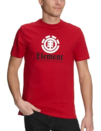 Element Vertical ss pp -  T-shirt - Homme - Rouge - S