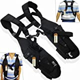 Double Radio Shoulder Holster Chest Harness Holder Vest Rig Compatible for Motorola Kenwood Midland 2 Way Radio Rescue Essentials, Lsgoodcare