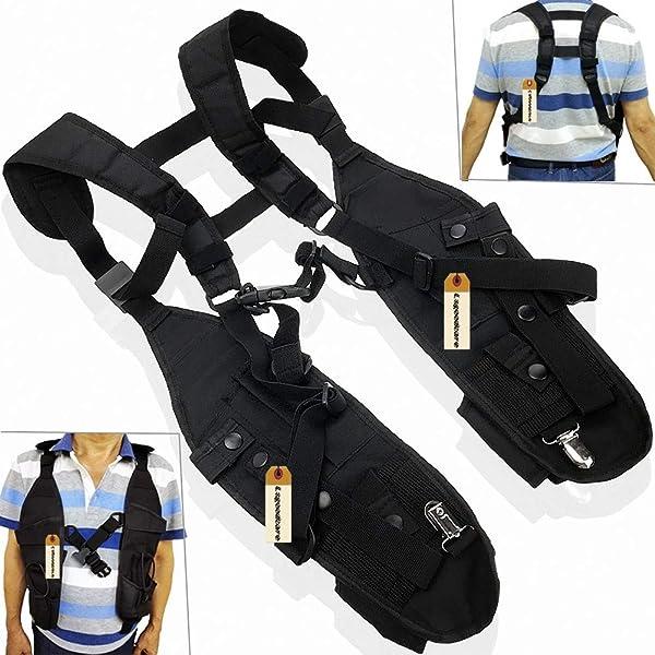 Double Radio Shoulder Holster Chest Harness Holder Vest Rig Compatible for Motorola Kenwood Midland 2 Way Radio Rescue Essentials, Lsgoodcare