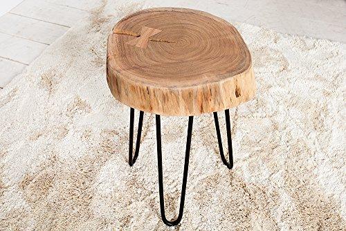 Beistelltisch goa baumscheibe akazienholz massiv com forafrica - Beistelltisch baumscheibe ...