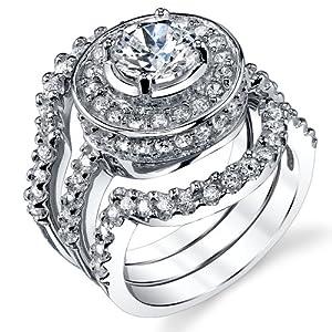 3 peice wedding ring set