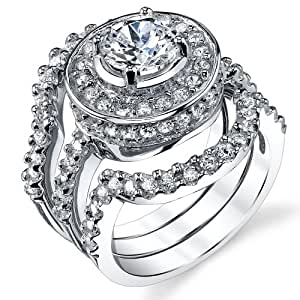 Amazon.com: 1.25 Carat 3 Piece Sterling Silver 925