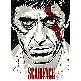 Scarface Black And White A3 CANVAS Wall Art Print - A3 - Cotton Canvas Print ...