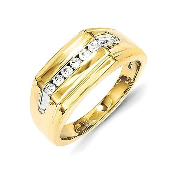 14k Diamond Mens Ring