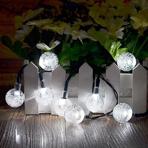 solar party led lichterkette wei garten beleuchtung. Black Bedroom Furniture Sets. Home Design Ideas