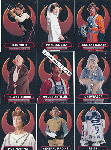 2016 Topps Star Wars Rogue One Mission Briefing Rebel Allaince 9 Card Set