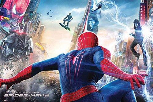 empire-interactive-poster-the-amazing-spiderman-2-con-accessori-multicolore