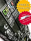 ChalkSeries Chalkboard Contact Paper 18 Inches x 6 Feet Roll ★ FREE 5 Colored Chalks ★ Premium Commercial Blackboard Vinyl Decal Wall Stickers with Removable Adhesive ★ Perfect Matte Black Mini Framed Chalk Board Labels ★ 100% Risk-Free Money Back Guarantee