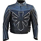 Classyak Men's Custom Triumph Motorcycle Real Leather Jacket Cow Black Large (Color: Cow Black, Tamaño: Large - For Chest 42-44