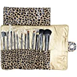 niceeshop(TM) Professional 13 Piece Cosmetic Brush Set with Pouch,Set of 12 Brushes and 1 Pouch