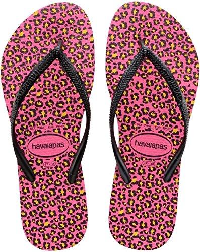 HavaianasSlim Animals - Sandali  donna , Rosa (Pink (Shocking Pink 0703)), 37/38 EU (35/36 BR)