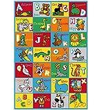 """ABC Animals Children Area Rug 39""""x58"""""""