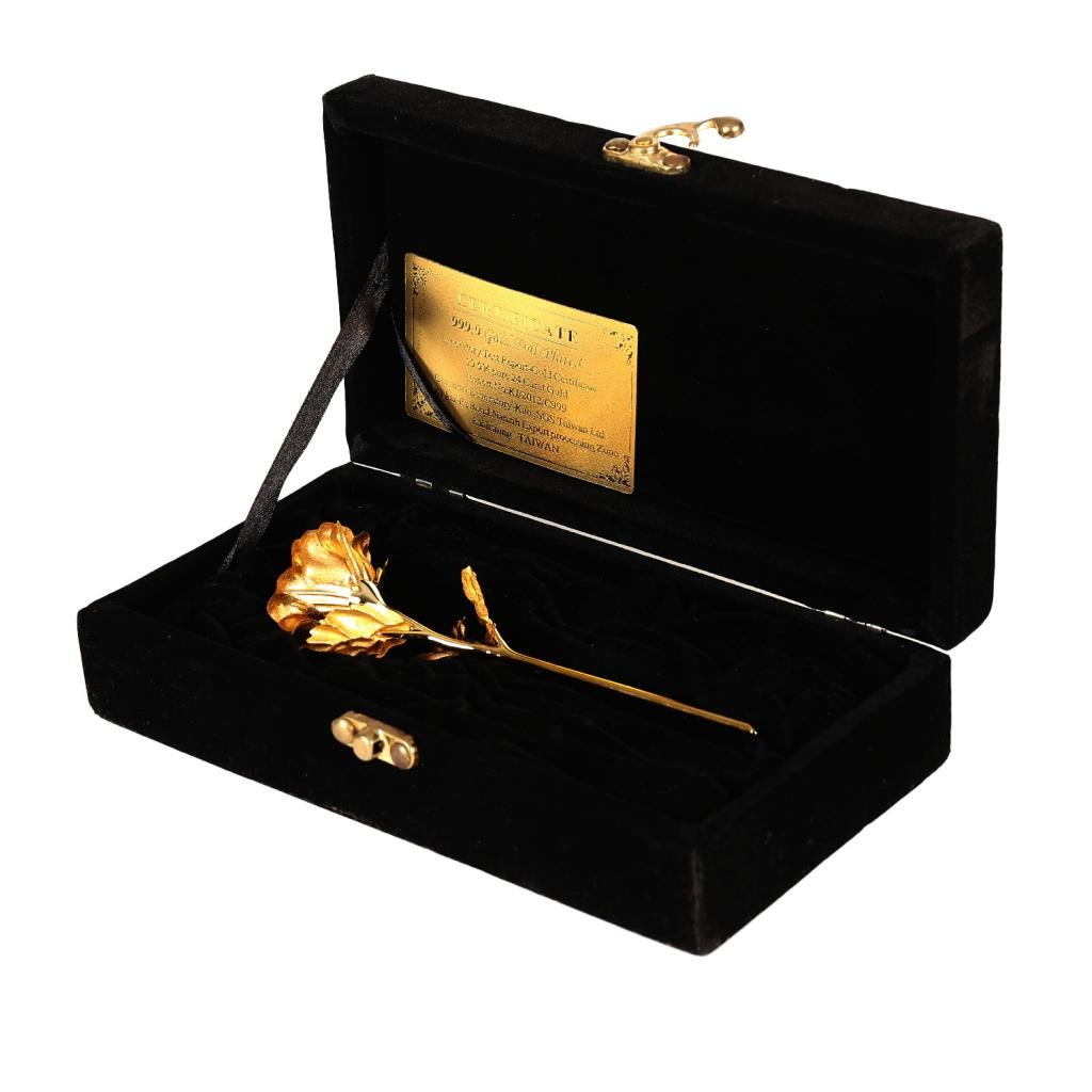 JEWEL FUEL Valentine Special Rose in 24k Gold With Exclusive Velvet Gift Box