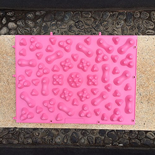 2 Pcs Nemoyard Pebble Foot Massage Mat Health Care Acupressure Shiatsu Circulation Reflexology, Sports Mat for Pain Relief and Body Health(Pink)