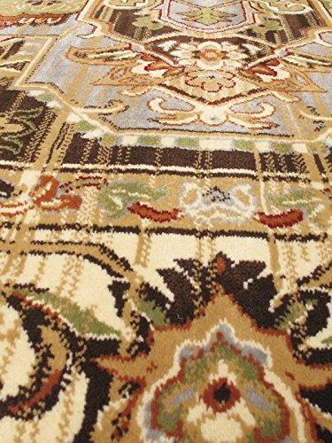 Ecarpetgallery Traditional Persia Serapi Medallion Corners 7' x 11' Ivory living room dining room arearug