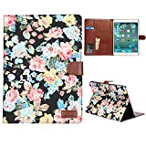Peony Rose Flower Flowers Denim Jean Case smart cover skin sleeve bag for Apple iPad 2, 3, 4 - New Apple iPad Air 5 and iPad Mini Denim fabric material folding folio cover and stand. Magnetic leather clasp, sleep wake function. Smart Awakening. Folding F