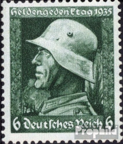 German Empire 569x vertical knurl 1935 Memorial Day (Stamps for collectors)