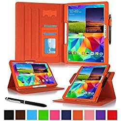 rooCASE Samsung Galaxy Tab S 10.5 Case - Dual View Multi-Angle Stand 10.5-Inch 10.5' Tablet Cover - ORANGE (With Auto Wake / Sleep Smart Cover)