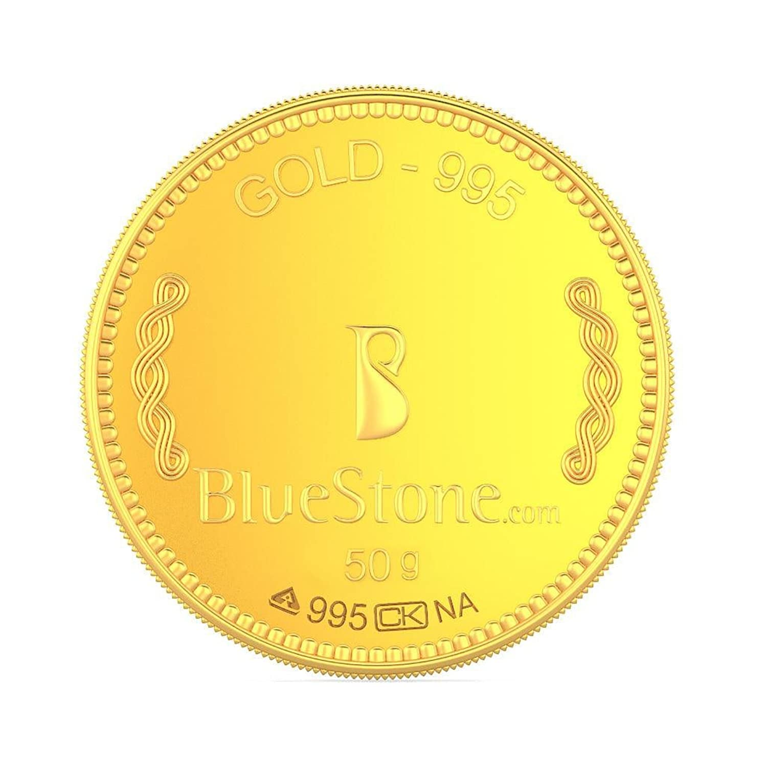BlueStone BIS Hallmarked 50 grams 24k (995) Yellow Gold Precious Coin