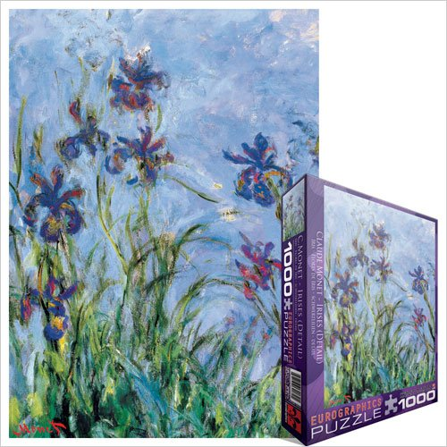 Cheap Fun EuroGraphics Irises (detail) by Claude Monet 1000 Piece Jigsaw Puzzle (B004LTEGIS)