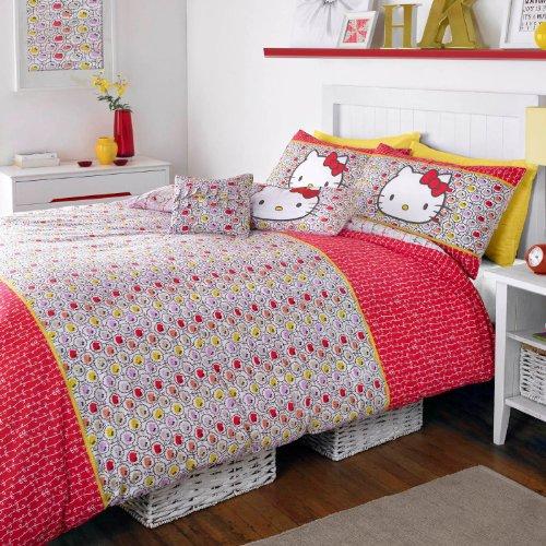 Duvet cover for HELLO KITTY WALL GARDEN LIBERTY liberty collaboration Hello Kitty-0 - single pillow cover set