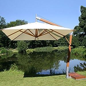 10 39 Square Bamboo Cantilever Umbrella Fabric