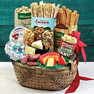 Shop handmade fresh fruit baskets, gourmet food gift baskets, towers and tins, from Stew Leonard's Gifts. Exceptional value, many gifts under $