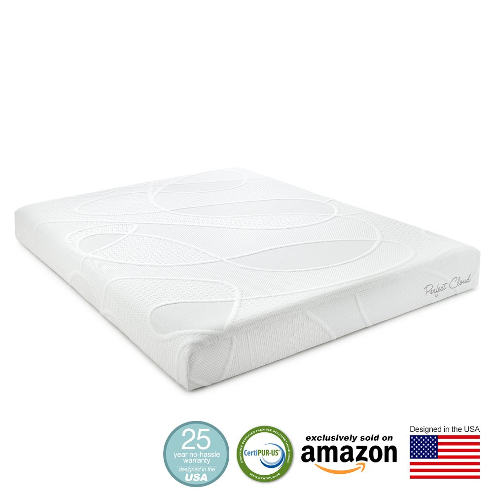 Compare Prices For Zippered Cover And Contour Pillow Included With Cal-King 2 Inch Soft Sleeper 6.5 Visco Elastic Memory Foam Mattress...