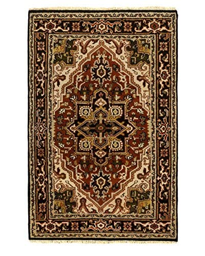 """Hand-Knotted Royal Heriz Wool Rug, Copper, 3' 11"""" x 6' 1"""""""