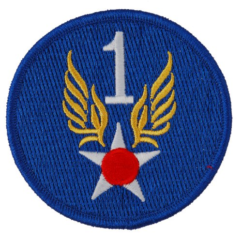 Generic Men'S Us Army 1St Air Force Badge Patch 3X3 Blue