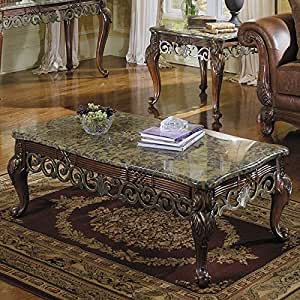 barcelona marble top occasional table set