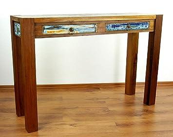Java Anrichte aus recyceltem Teakholz | Sideboard aus buntem Massivholz | Highboard der Marke Asia Wohnstudio | Beistelltisch | Konsolentisch aus Vollholz, Nr.354 (Handarbeit)