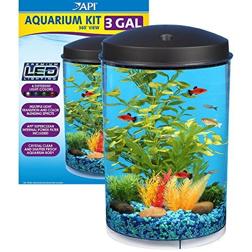 API Aquaview 360 Aquarium Kit with LED Lighting and Internal Power