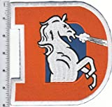 "LARGE NFL Denver Broncos 6"" high x 5 3/4"" wide PATCH w/ Old ""D"" Logo Throwback (sew or iron on) at Amazon.com"