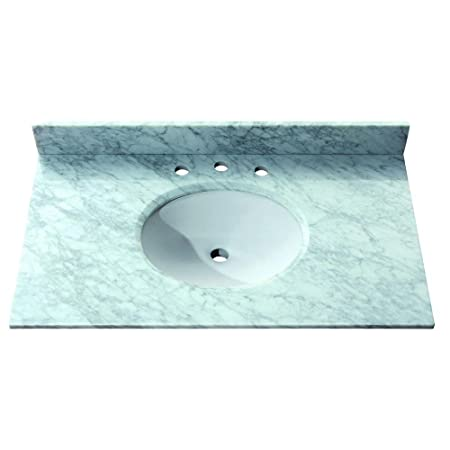 Avanity SUT37CW 37-Inch Carrera White Marble Stone Top