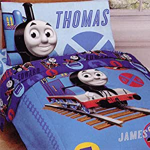 Thomas Train RR Crossing Toddler Comforter Sheets Set