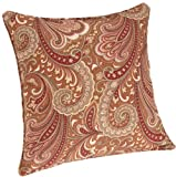 Brentwood Indoor/Outdoor Pillow 17 by 17-Inch Welt Cord, Merona Cinnabar