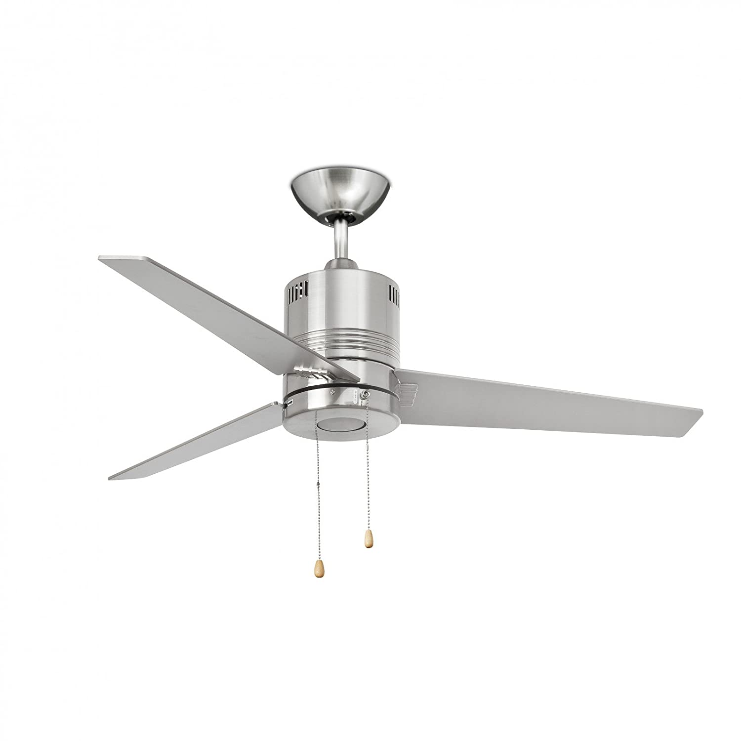 Faro LED Ventilator Chiloe, Metallisch, Glas/ Holz/ Metall, 33257