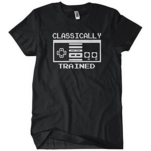 CLASSICALLY TRAINED CONTROLLER Womens T-Shirt Tee N Retro E Gaming S Old School