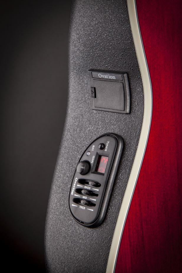 CS24-RR Acoustic-Electric Guitar, Ruby Red: Musical Instruments