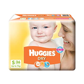 Image result for Huggies New Dry Small Size Diapers (36 Counts)