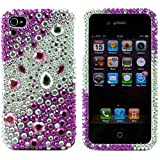 Diamond Rhinestone fashion Snap on Case for Apple iPhone4 16GB 32GB Mobile Phone by Apple