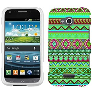 Samsung Galaxy Victory Aztec Green Pink Colourful Pattern Phone Case Cover