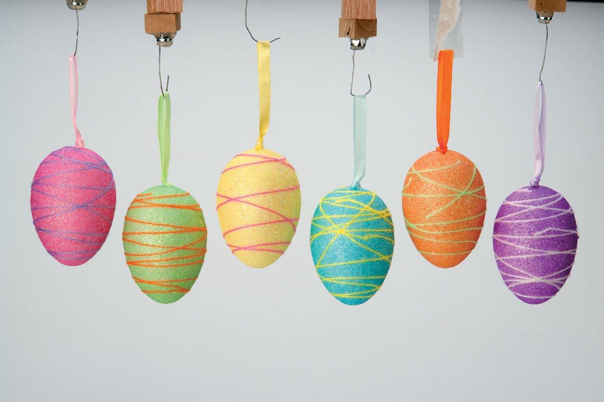 Threaded Stripe Easter Egg Ornaments